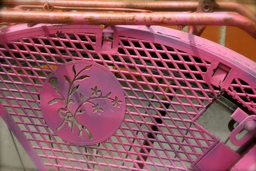 Pink bicycle detail